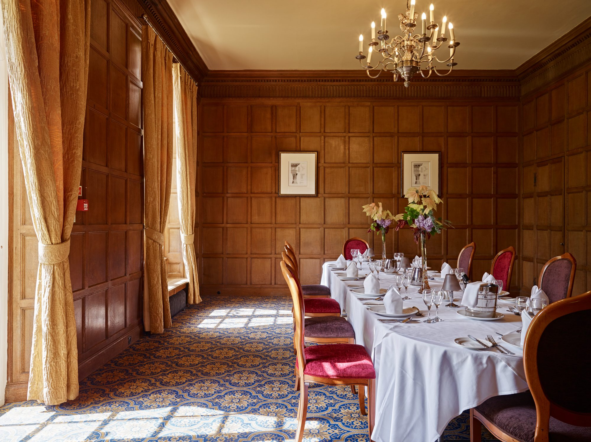 Dumbleton Hall Shire Room Private Dinner