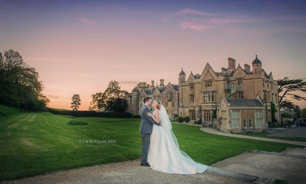 Wedding couple at Dumbleton Hall